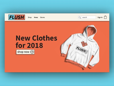 Flush Home Page graphic design typography design graphic apparel design apparel logo design logo brand branding webdesign web