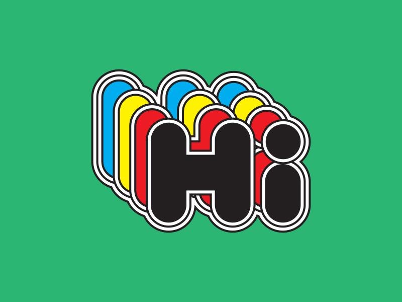 Hi graphic design type logo typography design