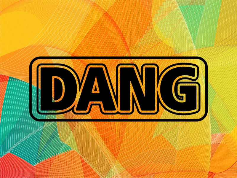 Dang color abstract vector branding badge type logo graphic design typography graphic design