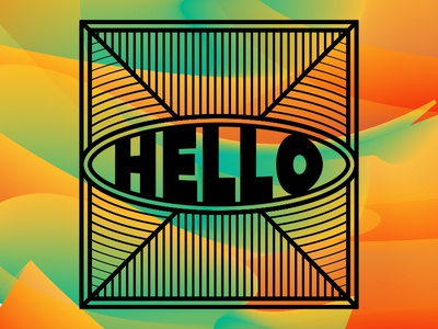 Hello abstract color type logo graphic design typography graphic design