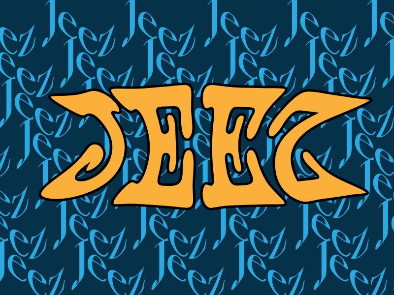 Jeez pattern type logo graphic design typography graphic design