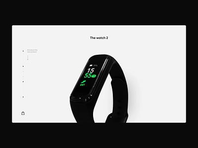 Fitness Watch Website Concept black ui flat uidesign minimal clean interaction design design uxdesign jak