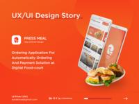 Food-court Ordering App Design Story - UX/UI Design