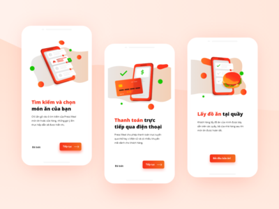 UX/UI Food-court Ordering App Design - Onboarding