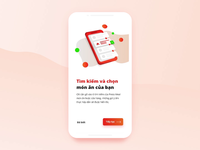Food-court Ordering App Design - Onboarding animation