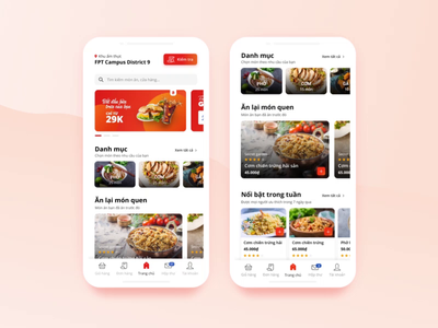 Food-court Ordering App Design