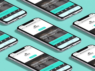 Exhale Studios Yoga - Responsive web design mockup blue ridge creative marketing graphic design branding wordpress ui design uxdesign mobile ui responsive design website design