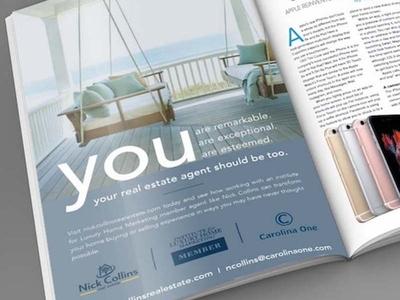 Nick Collins Print Ad real estate print ad graphic design print advertising