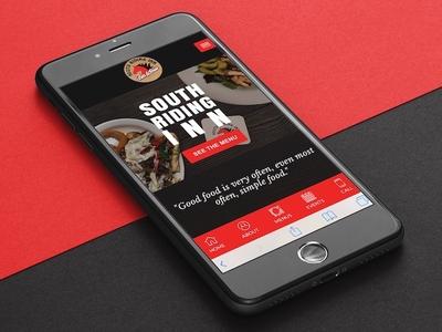 South Riding Inn... new website coming soon! responsive design mockup website web design app mobile restaurant
