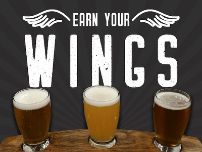 Earn Your Wings - SRI beer advertising advertising graphic design food industry restaurant craft beer beer