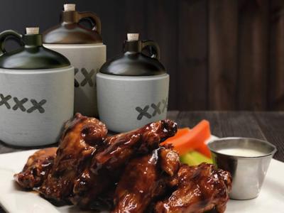 SRI Moonshine BBQ Wings restaurant chicken wings bbq advertising moonshine food