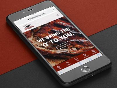 Big Kyle BBQ Mobile Mockup food branding barbecue bbq ux ui responsive design website web design