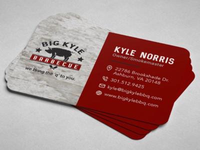 Big Kyle BBQ Business Card Design
