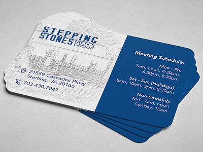 Stepping Stones Business Card Design logo design branding business card design graphic design business card alcoholics anonymous stepping stones