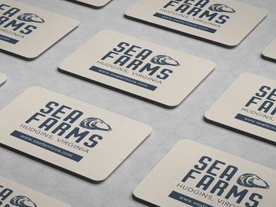 Sea Farms, inc. Business Card Design (back) chesapeake bay color palette blue ridge creative marketing advertising business card design small business seafood branding logo design graphic design business cards