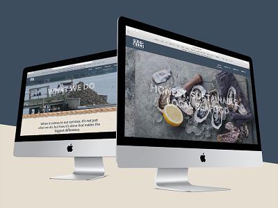 Sea Farms Website Design Mockup on iMac mockups website mockup digital marketing blue ridge creative marketing small business seafood graphic design web design website design apple imac