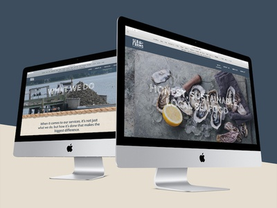 Sea Farms Website Design Mockup on iMac