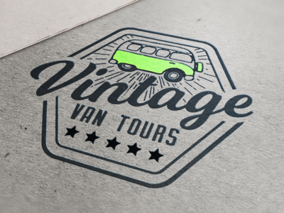 Vintage Van Tour Logo Design
