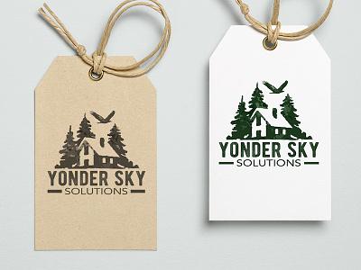 Yonder Sky Solutions Logo Design advertising graphic  design richmond blue ridge creative marketing aerial local business videography photography drones drone branding logo design logo