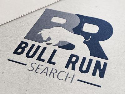 Bull Run Search Logo Mockup brand strategy brand agency recruiter advertising design mockup logo blue ridge creative marketing logo design branding graphic design