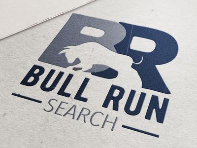 Bull Run Search Logo Mockup