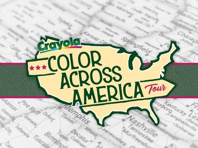 Logo for Crayola Color Across America Tour Concept tour vci brandcenter blue ridge creative marketing crayons mockups events brand experience brandcenter logo design logo crayola