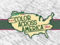 Logo for Crayola Color Across America Tour Concept