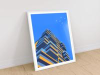 Geometric house illustration