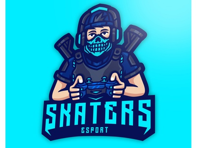 SKATERS logos design branding illistration gaming esport mascot logo
