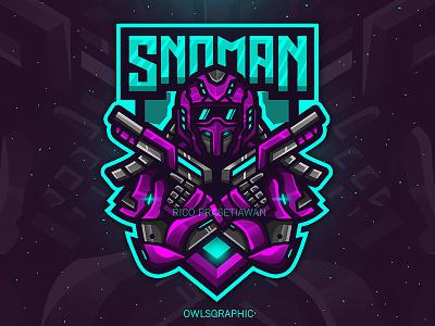 Snoman mascot logo esport gaming