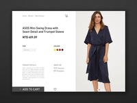 Daily UI challenge #012 — E-Commerce Shop (Single Item)
