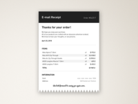 Daily UI challenge #017 —Email Receipt
