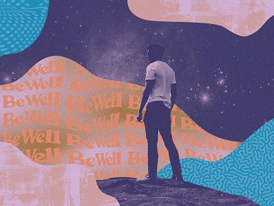 BW 5 collage pattern illustration design branding texture layout
