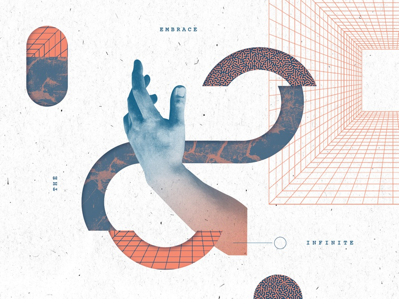 Infinite branding illustration texture layout
