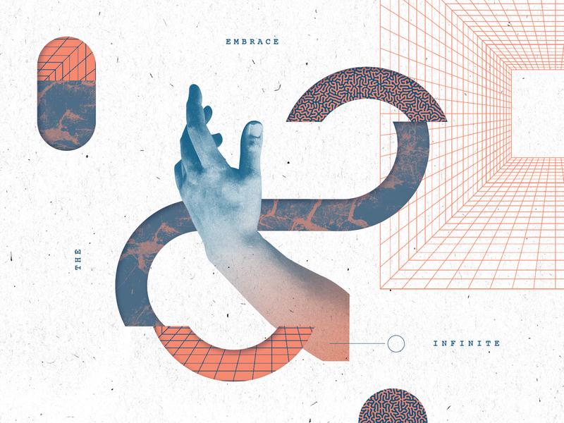Infinite branding illustration texture layout