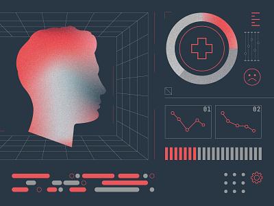 Health illustrations vector ui design branding illustration pattern geometry layout