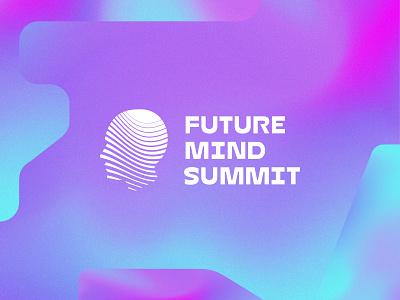 Future Mind logo identity pattern geometric design gradients branding illustration type layout