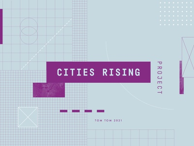 Cities Rising 01 pattern branding logo geometric design identity lettering type geometry layout