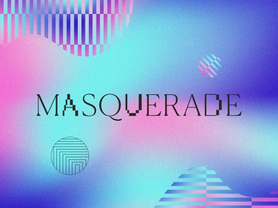 Masquerade branding design logo type pattern layout