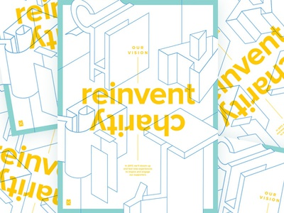 Reinvent layout 3d type mission poster