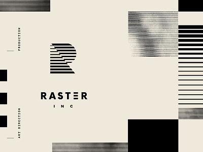R INC layout geometry logo identity branding