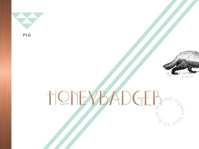 HB foil type lettering menu branding identity