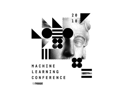 ML18 machine learning identity layout collage branding