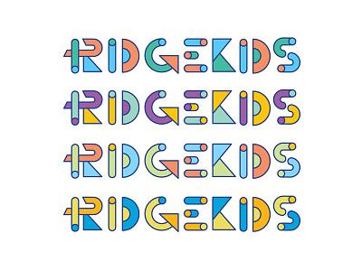 RK geometry color letering branding logo