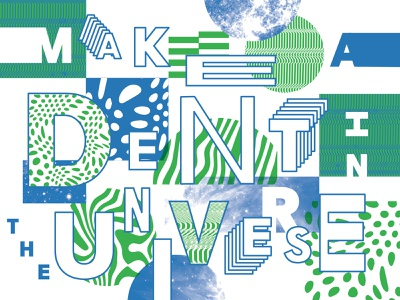 DENT layout lettering pattern collage type