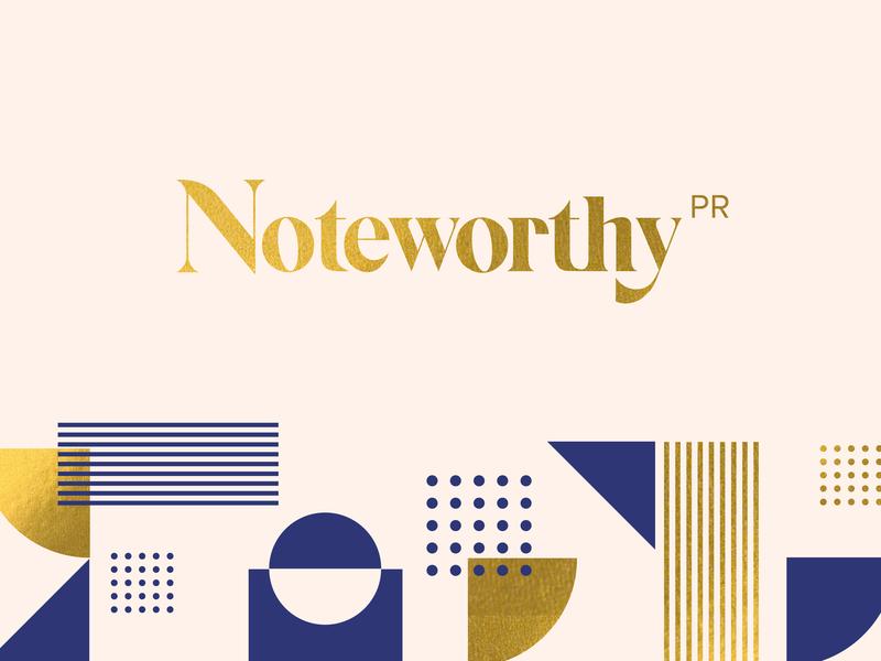 Noteworthy design identity branding pattern vector logo geometric lettering geometry layout