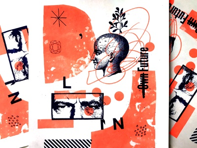 Riso 2 texture design layout illustration collage