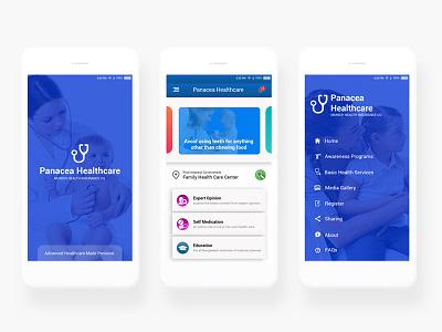 Health Card App Mockup ux ui typography mobile healt graphic doctor design creativity colors care app