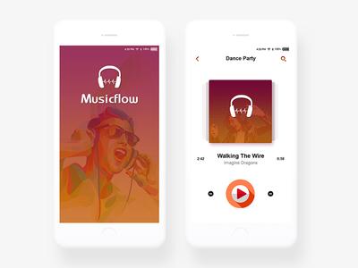 Mobile App Design for Music - Musicflow