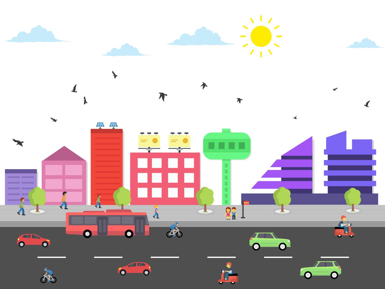 City Skyline design character skyline city graphic design idea vector banner graphics illustration creative
